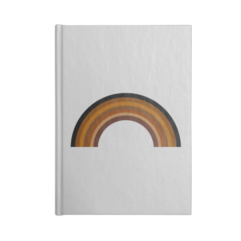 Brown Rainbow Accessories Notebook by Illustrations by Phil