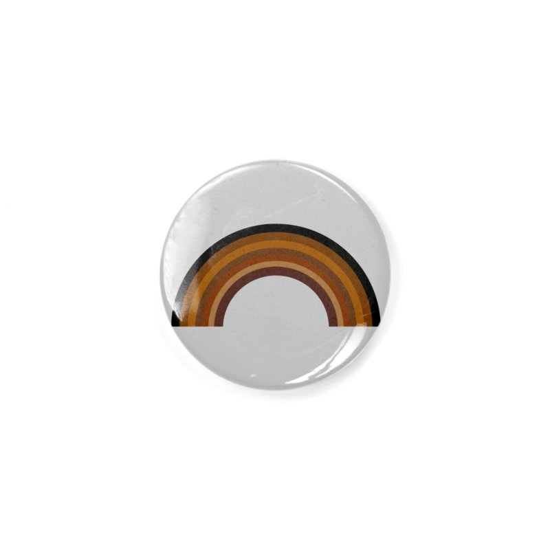 Brown Rainbow Accessories Button by Illustrations by Phil