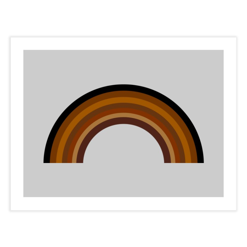 Brown Rainbow Home Fine Art Print by Illustrations by Phil