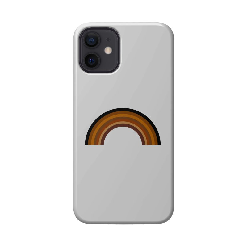 Brown Rainbow Accessories Phone Case by Illustrations by Phil