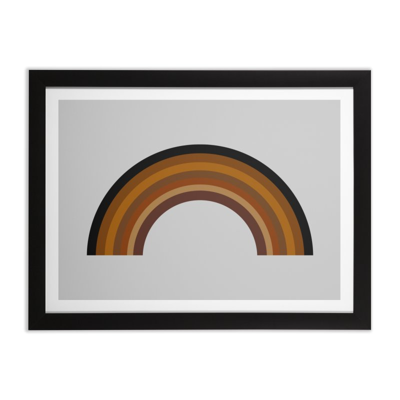 Brown Rainbow Home Framed Fine Art Print by Illustrations by Phil