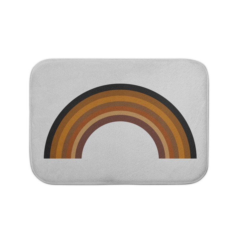 Brown Rainbow Home Bath Mat by Illustrations by Phil