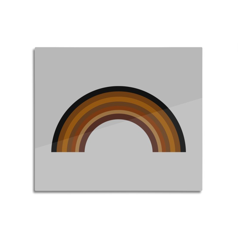 Brown Rainbow Home Mounted Acrylic Print by Illustrations by Phil