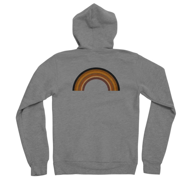 Brown Rainbow Women's Zip-Up Hoody by Illustrations by Phil