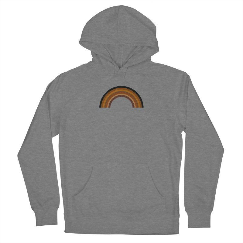 Brown Rainbow Women's Pullover Hoody by Illustrations by Phil