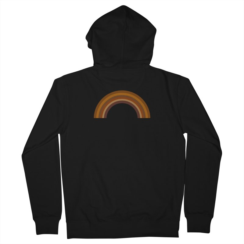 Brown Rainbow Men's Zip-Up Hoody by Illustrations by Phil