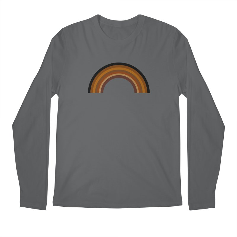 Brown Rainbow Men's Longsleeve T-Shirt by Illustrations by Phil