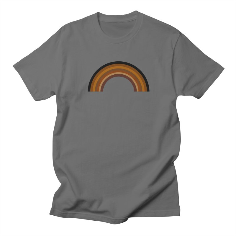 Brown Rainbow Men's T-Shirt by Illustrations by Phil