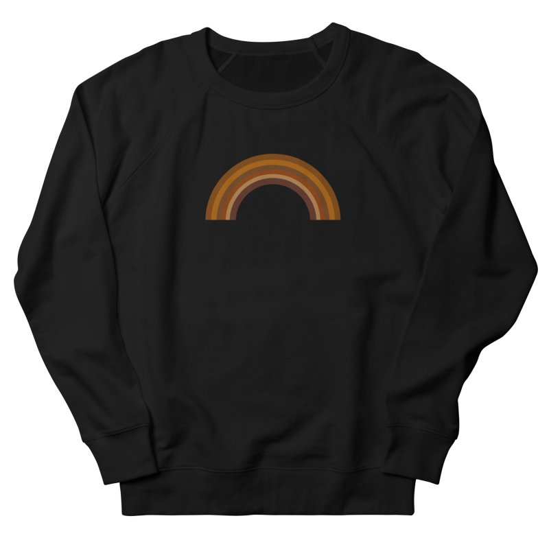 Brown Rainbow Men's Sweatshirt by Illustrations by Phil