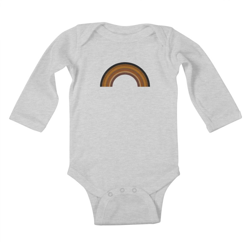 Brown Rainbow Kids Baby Longsleeve Bodysuit by Illustrations by Phil