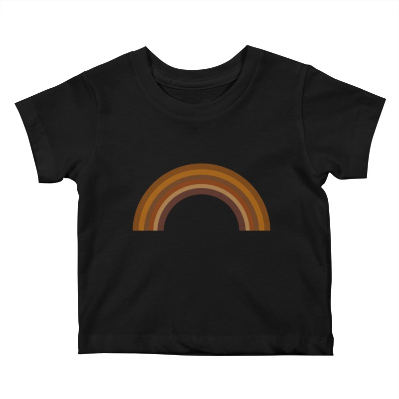 Brown Rainbow Kids Baby T-Shirt by Illustrations by Phil