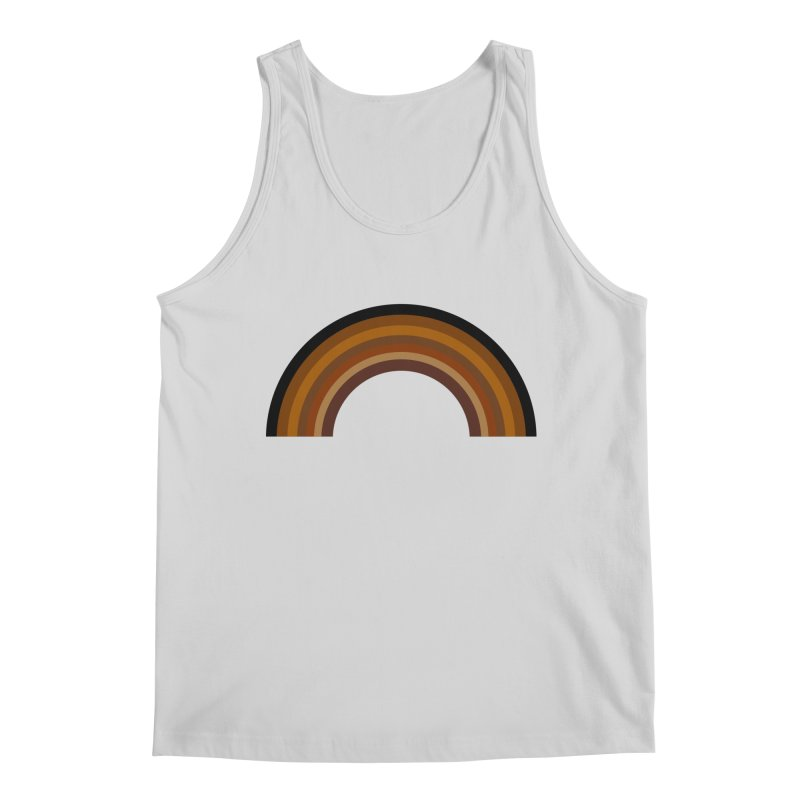 Brown Rainbow Men's Tank by Illustrations by Phil