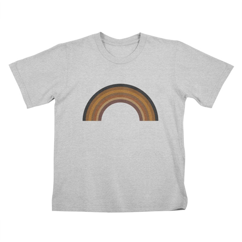 Brown Rainbow Kids T-Shirt by Illustrations by Phil