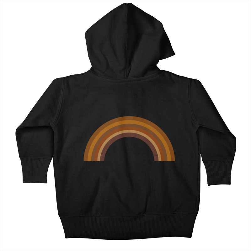 Brown Rainbow Kids Baby Zip-Up Hoody by Illustrations by Phil