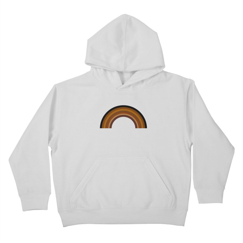 Brown Rainbow Kids Pullover Hoody by Illustrations by Phil