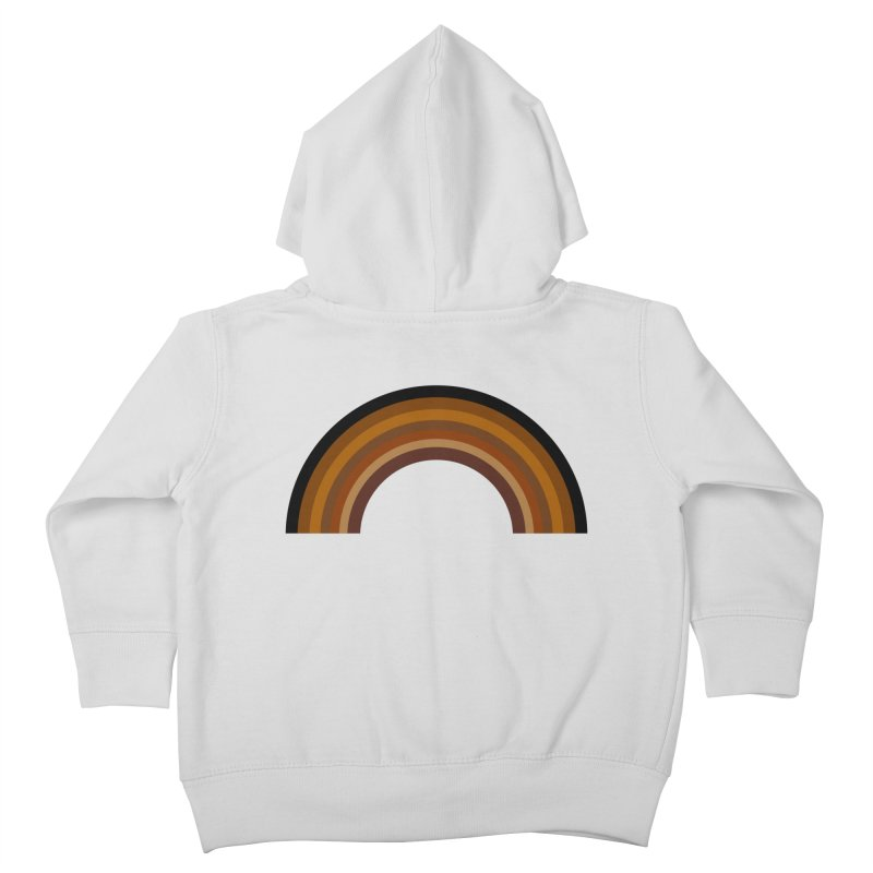 Brown Rainbow Kids Toddler Zip-Up Hoody by Illustrations by Phil