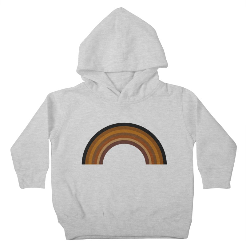 Brown Rainbow Kids Toddler Pullover Hoody by Illustrations by Phil