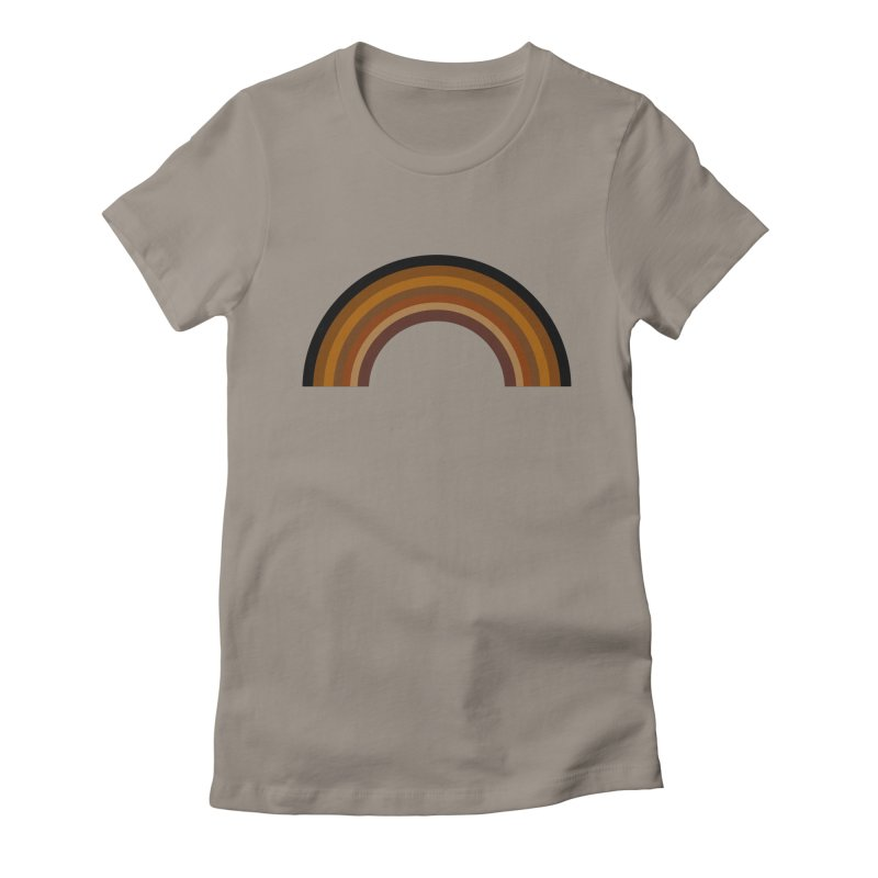 Brown Rainbow Women's T-Shirt by Illustrations by Phil