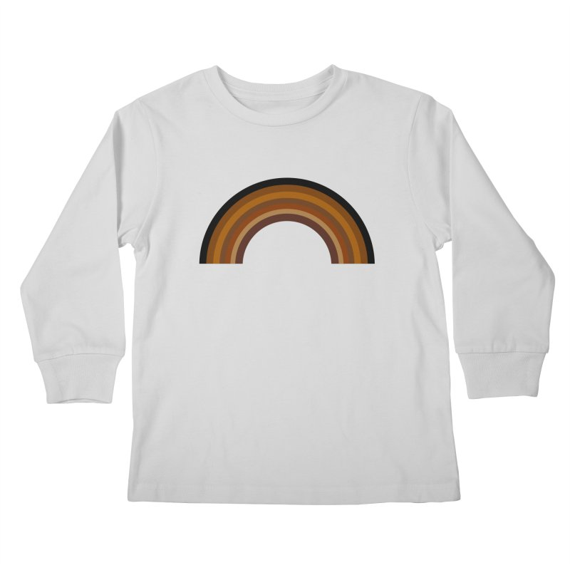 Brown Rainbow Kids Longsleeve T-Shirt by Illustrations by Phil