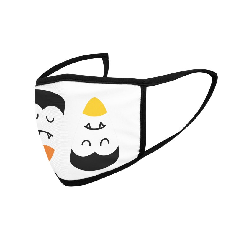 Vampire Candy Corn Accessories Face Mask by Illustrations by Phil
