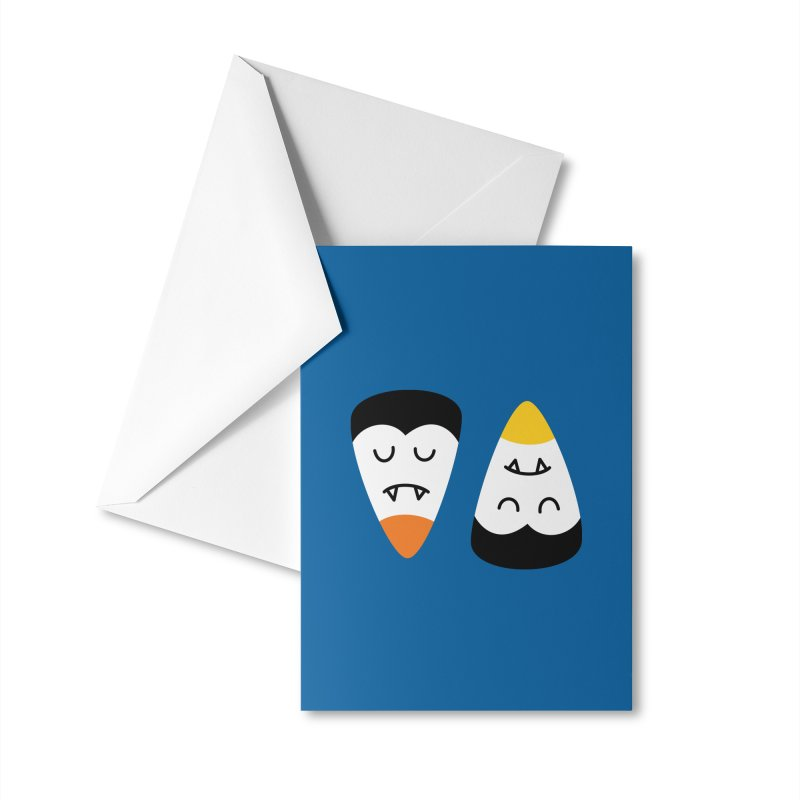 Vampire Candy Corn Accessories Greeting Card by Illustrations by Phil