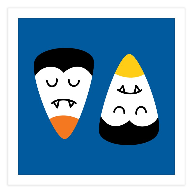 Vampire Candy Corn Home Fine Art Print by Illustrations by Phil