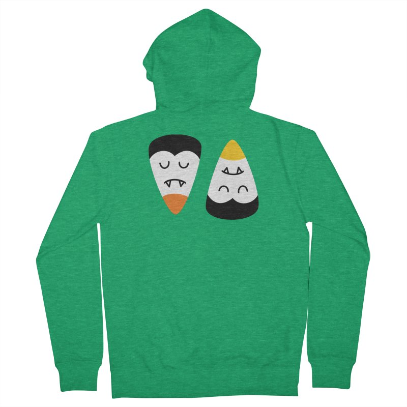 Vampire Candy Corn Men's Zip-Up Hoody by Illustrations by Phil