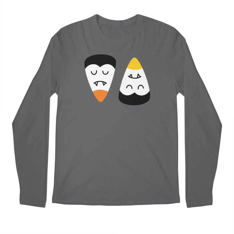 Vampire Candy Corn Men's Longsleeve T-Shirt by Illustrations by Phil