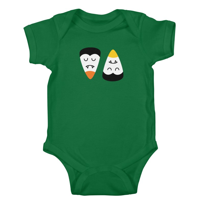 Vampire Candy Corn Kids Baby Bodysuit by Illustrations by Phil