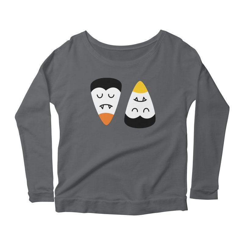 Vampire Candy Corn Women's Longsleeve T-Shirt by Illustrations by Phil