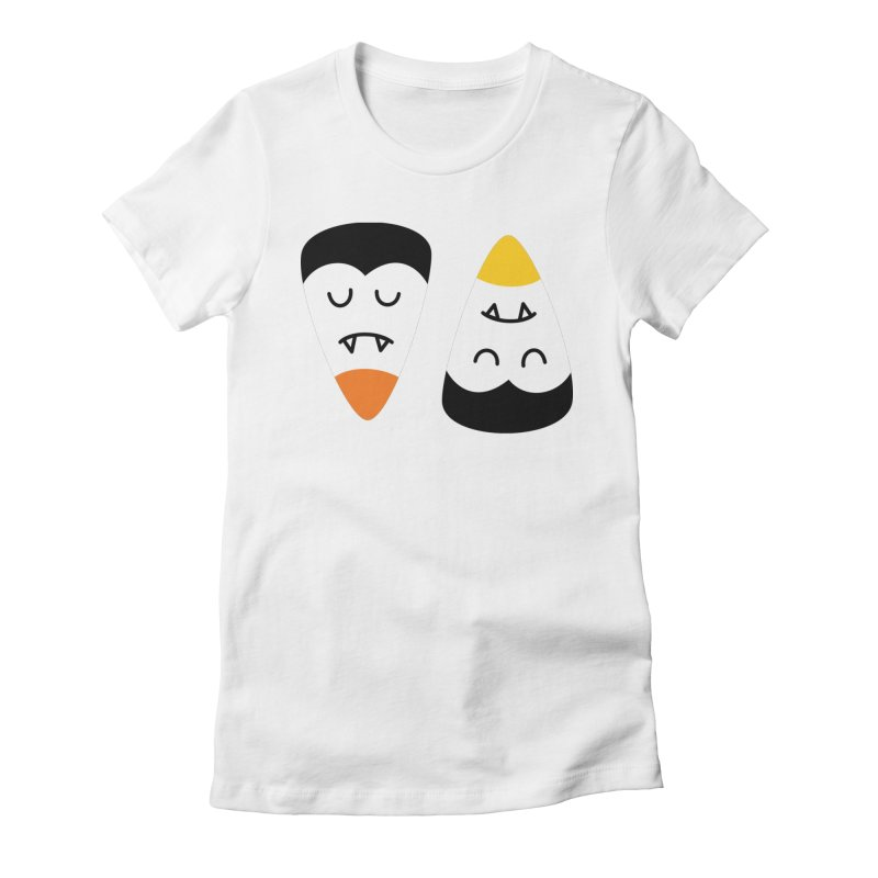Vampire Candy Corn Women's T-Shirt by Illustrations by Phil