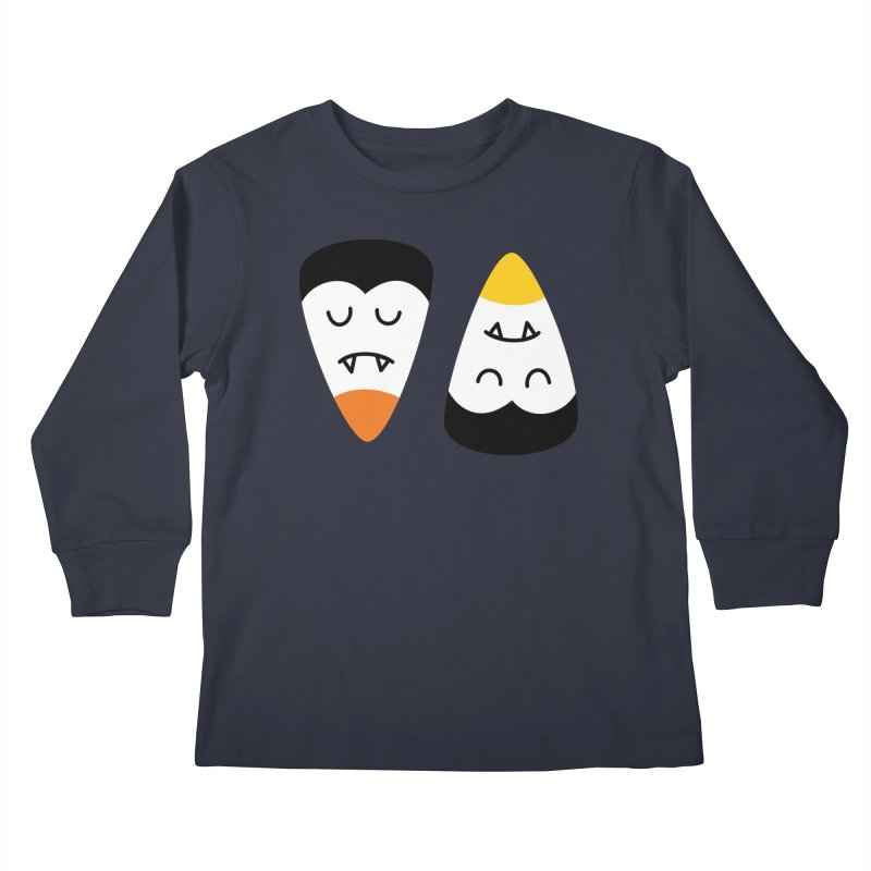 Vampire Candy Corn Kids Longsleeve T-Shirt by Illustrations by Phil