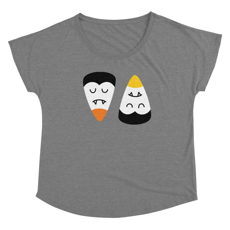 Vampire Candy Corn Women's Scoop Neck by Illustrations by Phil