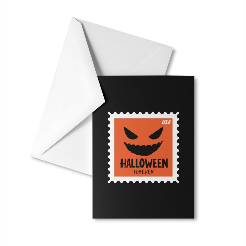 Halloween Forever! Accessories Greeting Card by Illustrations by Phil