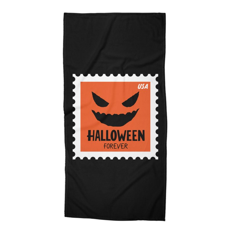 Halloween Forever! Accessories Beach Towel by Illustrations by Phil