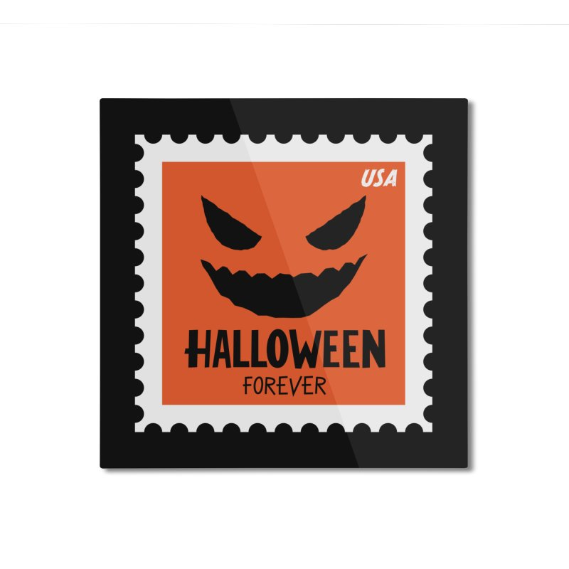 Halloween Forever! Home Mounted Aluminum Print by Illustrations by Phil