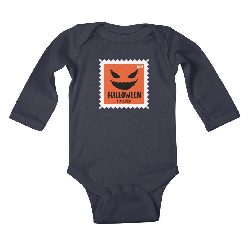 Halloween Forever! Kids Baby Longsleeve Bodysuit by Illustrations by Phil