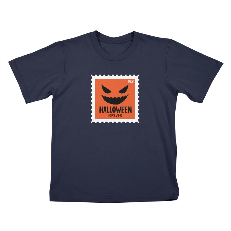 Halloween Forever! Kids T-Shirt by Illustrations by Phil