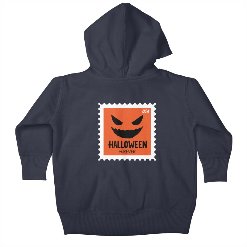 Halloween Forever! Kids Baby Zip-Up Hoody by Illustrations by Phil