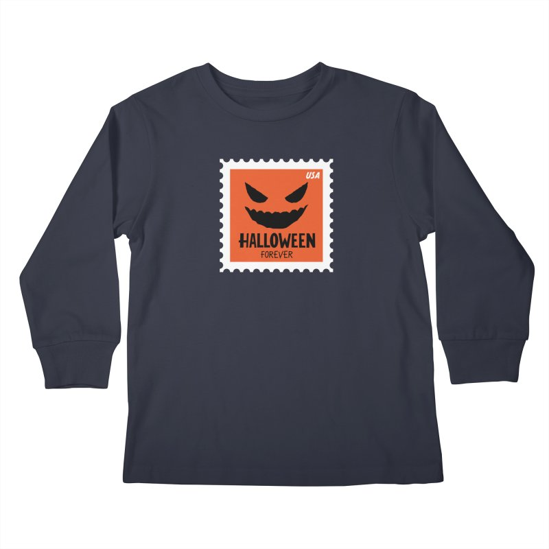 Halloween Forever! Kids Longsleeve T-Shirt by Illustrations by Phil