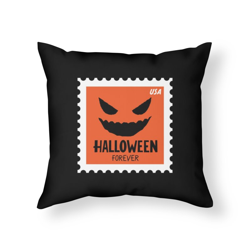 Halloween Forever! Home Throw Pillow by Illustrations by Phil