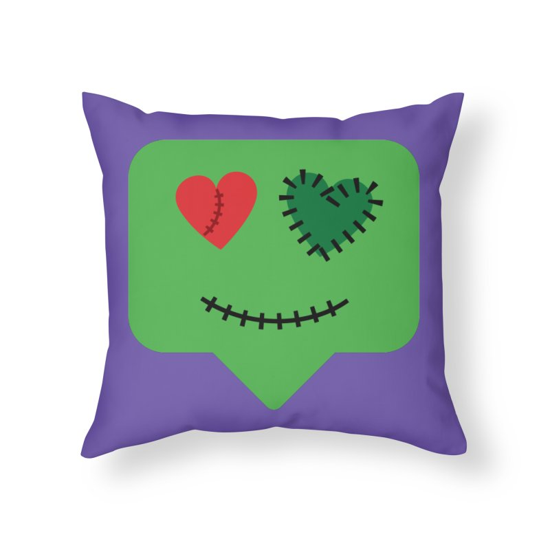 Frankie say trick-or-treat Home Throw Pillow by Illustrations by Phil