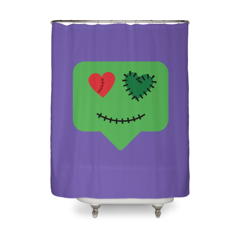 Frankie say trick-or-treat Home Shower Curtain by Illustrations by Phil