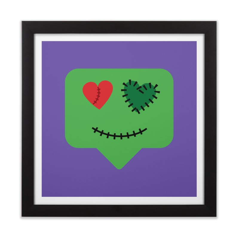Frankie say trick-or-treat Home Framed Fine Art Print by Illustrations by Phil