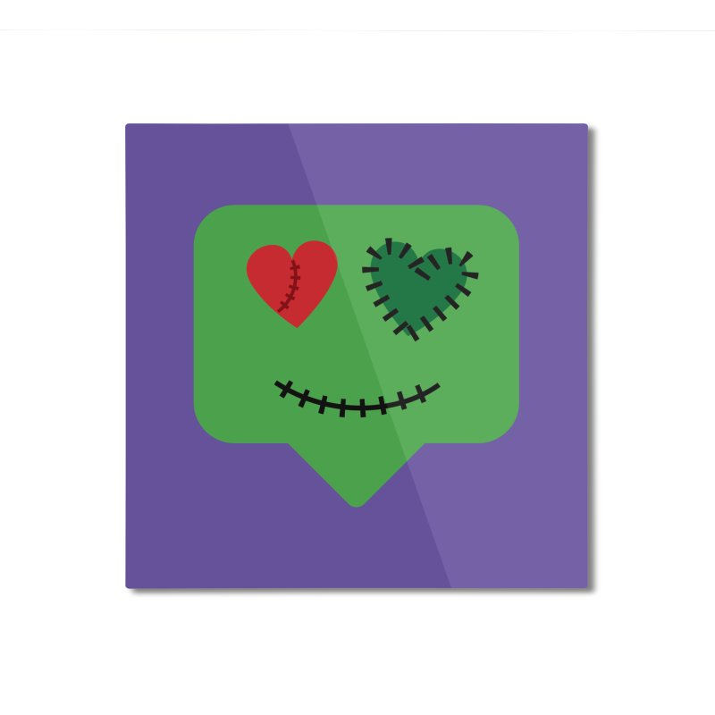 Frankie say trick-or-treat Home Mounted Aluminum Print by Illustrations by Phil