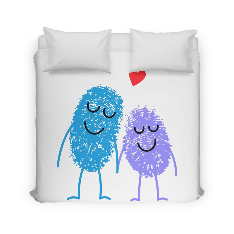 Prints, Charming Home Duvet by Illustrations by Phil