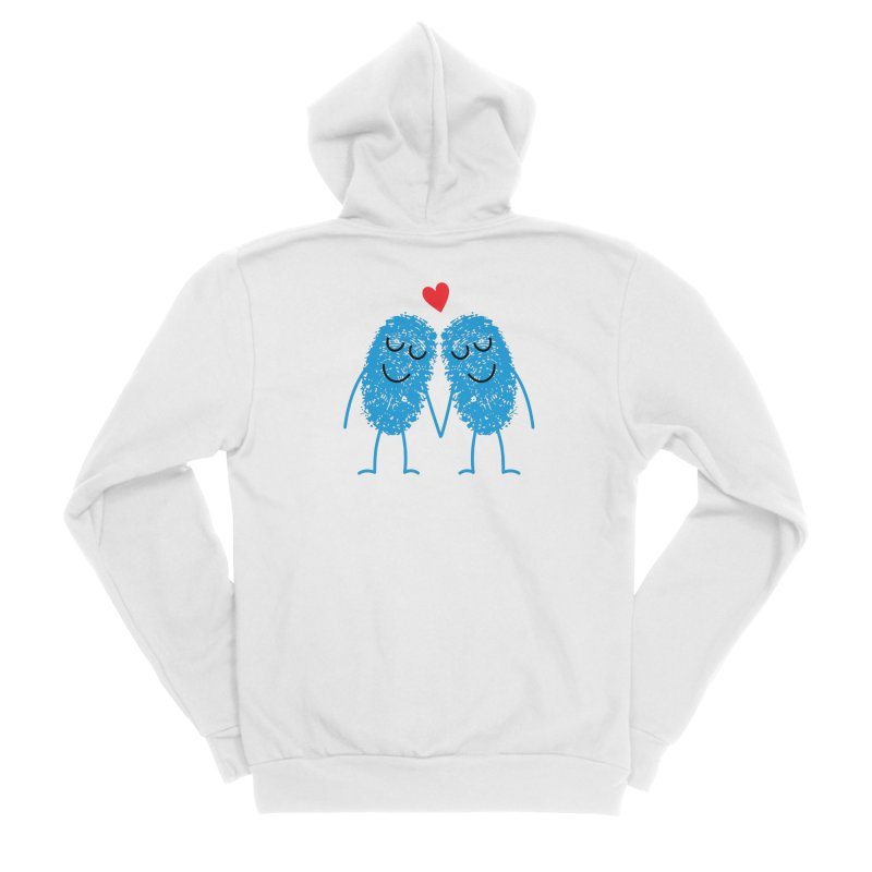 Charming Prints Women's Zip-Up Hoody by Illustrations by Phil