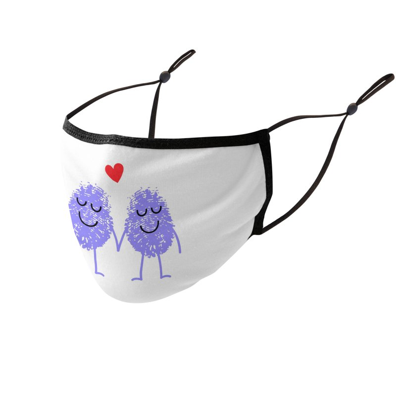 Fingerprint friends Accessories Face Mask by Illustrations by Phil