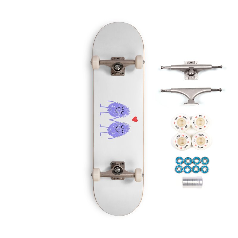 Fingerprint friends Accessories Skateboard by Illustrations by Phil