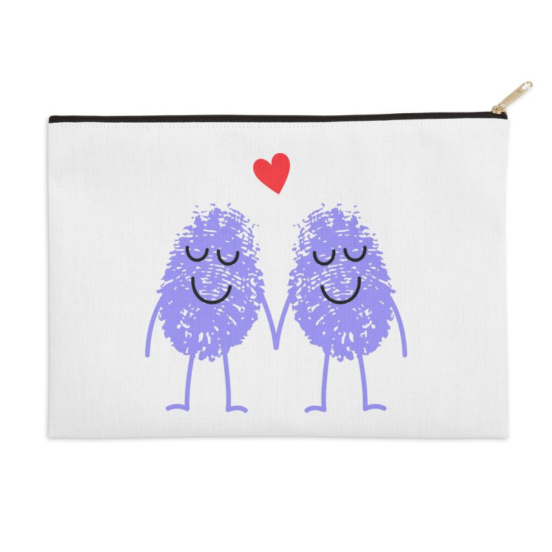 Fingerprint friends Accessories Zip Pouch by Illustrations by Phil